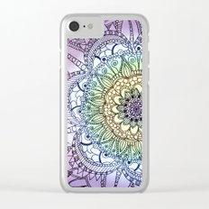 Purple Butterfly Mandala Clear iPhone Case