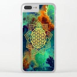 Flower Of Life (Batik 12) Clear iPhone Case