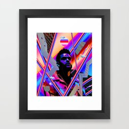 The Weeknd Trippy Framed Art Print