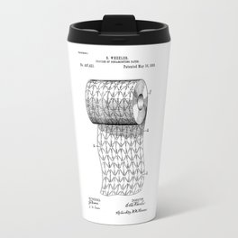 patent art Wheeler Process of ornamenting paper 1893 Travel Mug