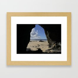Cave at Gwithian Framed Art Print