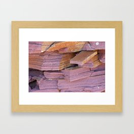 Sandstone Abstract Framed Art Print