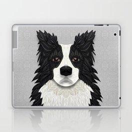 Black Border Collie Laptop & iPad Skin