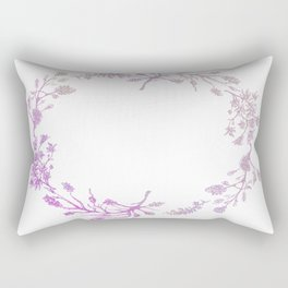 Wreath Floral In Pink And Purple Rectangular Pillow