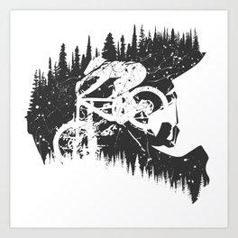 Black Fullface Art Print