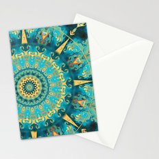 Caribbean Gold Mandala Stationery Cards
