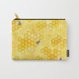 Meant to Bee - Honey Bees Pattern Carry-All Pouch
