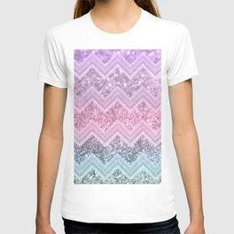 Unicorn Glitter Chevron #1 #pastel #shiny #decor #art #society6 T-shirt