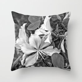 Beautiful butterfly tree flower Throw Pillow