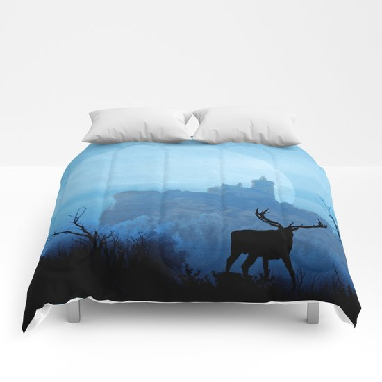Stag moon Comforters