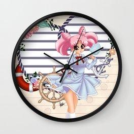 Nautical ChibiUsa Wall Clock