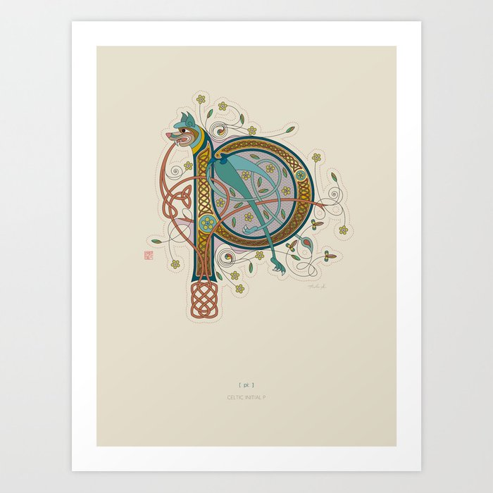 Celtic Initial P Art Print