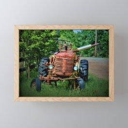 Abandoned Farm Tractor Framed Mini Art Print