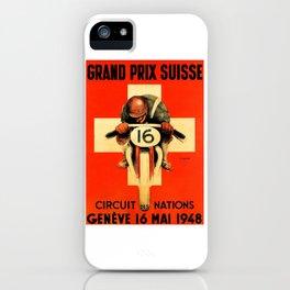 Grand Prix de Suisse, Race Poster, Vintage Poster, t-shirt iPhone Case