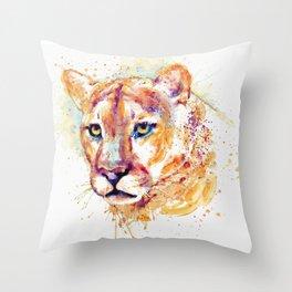 Cougar Head Throw Pillow