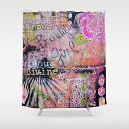 Beautiful Girl Shower Curtain