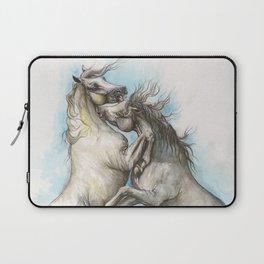 Fighting horses Laptop Sleeve