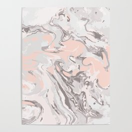 Effect Marble pink Poster