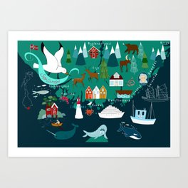 Sørlandet- The south of Norway  Art Print