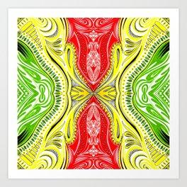African Colours 3 Symmetrical design Art Print
