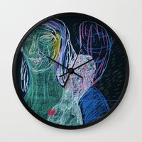 demon Wall Clocks featuring demon by Maybe Mary