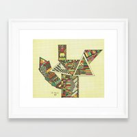 mr fox Framed Art Prints featuring Mr. Fox by Ju-Mania