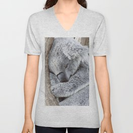 Sleeping Koala Unisex V-Neck