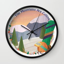 Moutains Are Calling - Snowboard Wall Clock