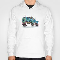rhino Hoodies featuring Rhino by mark ashkenazi