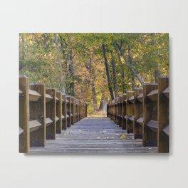 Yosemite Footbridge Fall Color   10-22-17  Metal Print