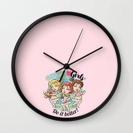 """CHUBBY GIRLS """"Do it Better!"""" Wall Clock"""