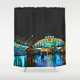 Last Train From Thailand Shower Curtain