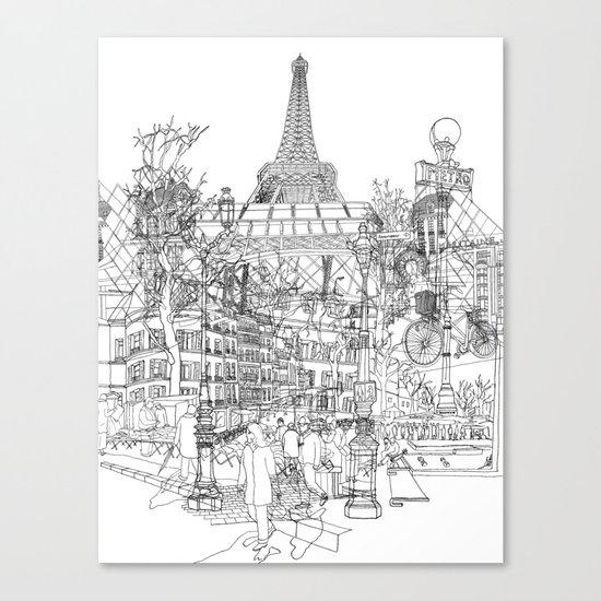 Paris! B&W Canvas Print