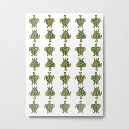 Wise Sea Turtle Metal Print