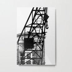 OLD HARBOR CRANE Metal Print