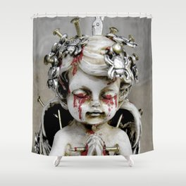 Massacred Angel: mixing Heaven with Hell. Shower Curtain