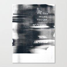 Uncertain Canvas Print