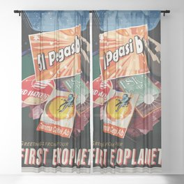 51 Pegasi b - NASA Space Travel Poster Sheer Curtain