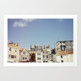 St. Ives house with tilt and shift view. Art Print