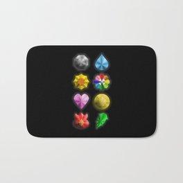 Indigo League Badges Bath Mat