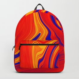 Abstract Bold Colorful Marble Backpack