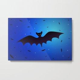 Bats in the night starry sky Metal Print
