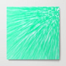 Seafoam Pixel Wind Metal Print