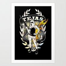 Tejas Art Print