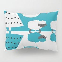 White sheep in a blue world Pillow Sham