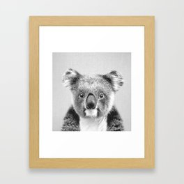 Koala - Black & White Framed Art Print