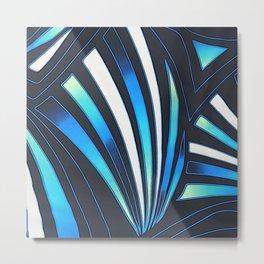 blue fan Metal Print