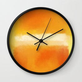 Mark Rothko Interpretation Orange On Orange Wall Clock
