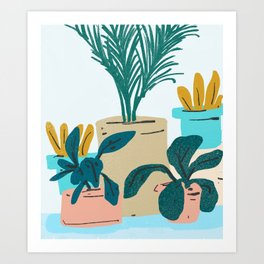 Little Plants #illustration #nature Art Print