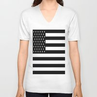 flag V-neck T-shirts featuring Flag by Blindspots Arts